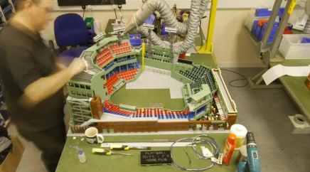 Fenway Park Being Made Out of Legos
