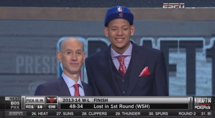Adam Silver Drafts Isaiah Austin into the NBA