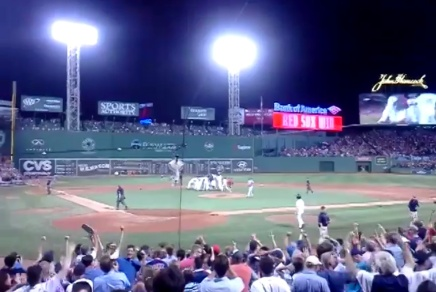Brock Holt's Walk Off Single From the Stands