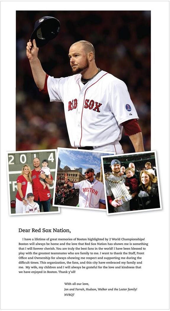 jon lester ad boston globe